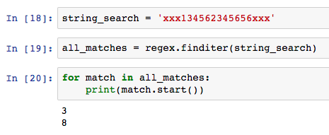 finditer() allows you iterator through the matches