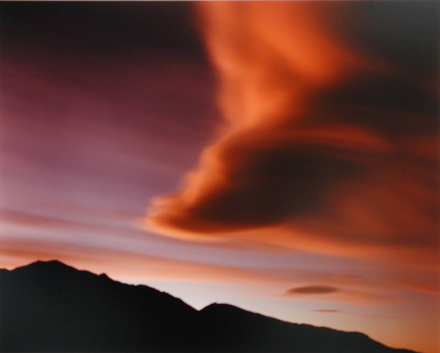Cloud, Walker Lake 1994 - 20 x 24 in color chromogenic print, framedSigned edition of 25$7250
