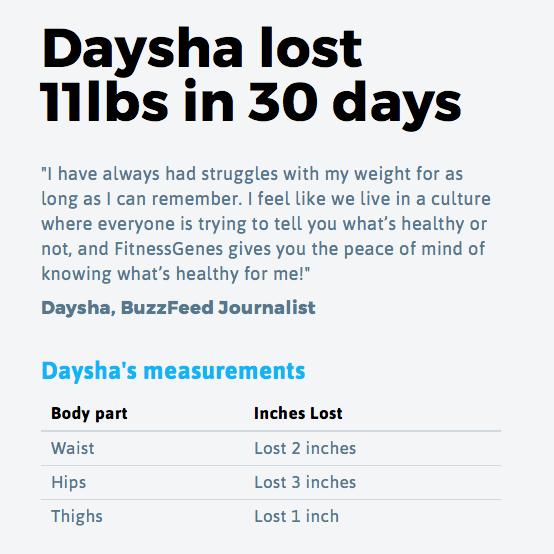 Fitness Genes - Buzzfeed (Daysha Results)