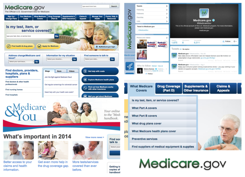 Visual audit of Medicare websites and social media