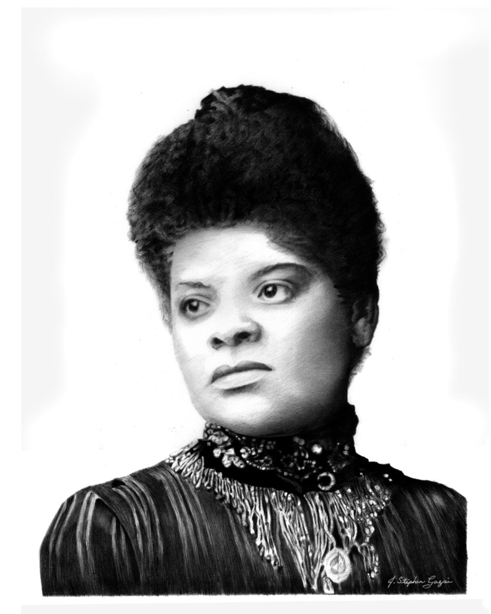 Ida B. Wells, African-American Investigative Journalist, educator, abolitionist, feminist and early leader of the Civil Rights Movement who led an anti-lynching crusade in the United States in the 1890s.