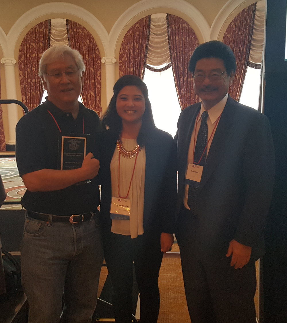 From left to right: Ron Yoshino (Chicago JACL- recipient of George Inagaki Chapter Citizenship Award), Amy Watanabe (Venice-West LA JACL), Travis Nishi (Chair, JACL Awards & Reocgnition)