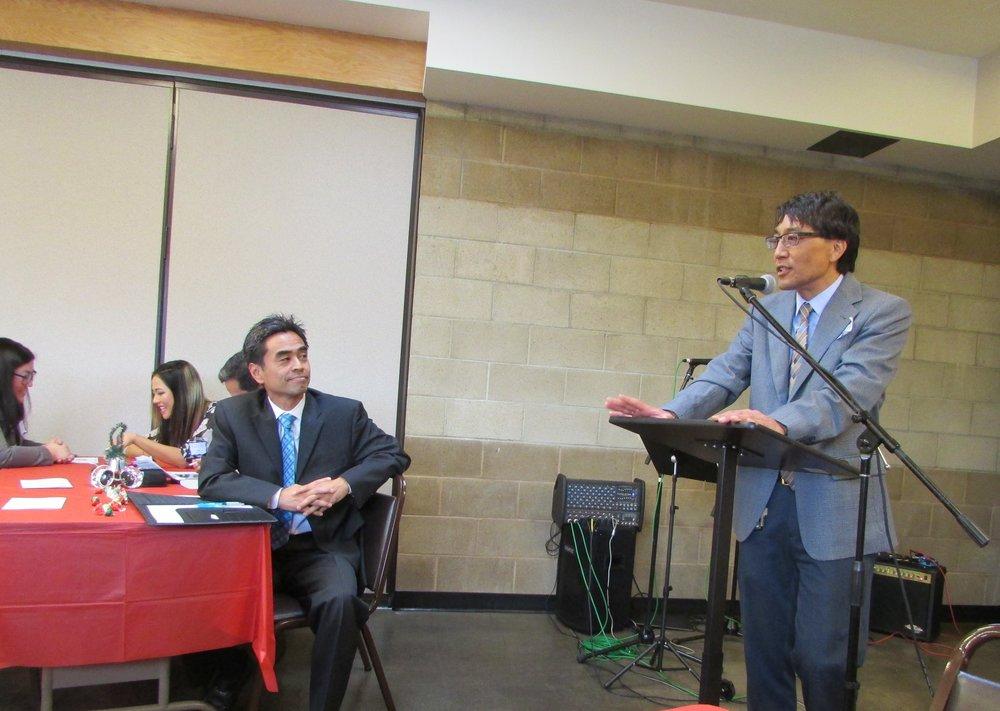 Chapter President John Saito introduces Keynote Speaker, Hon. James Toma, Councilmember, City of West Covina.