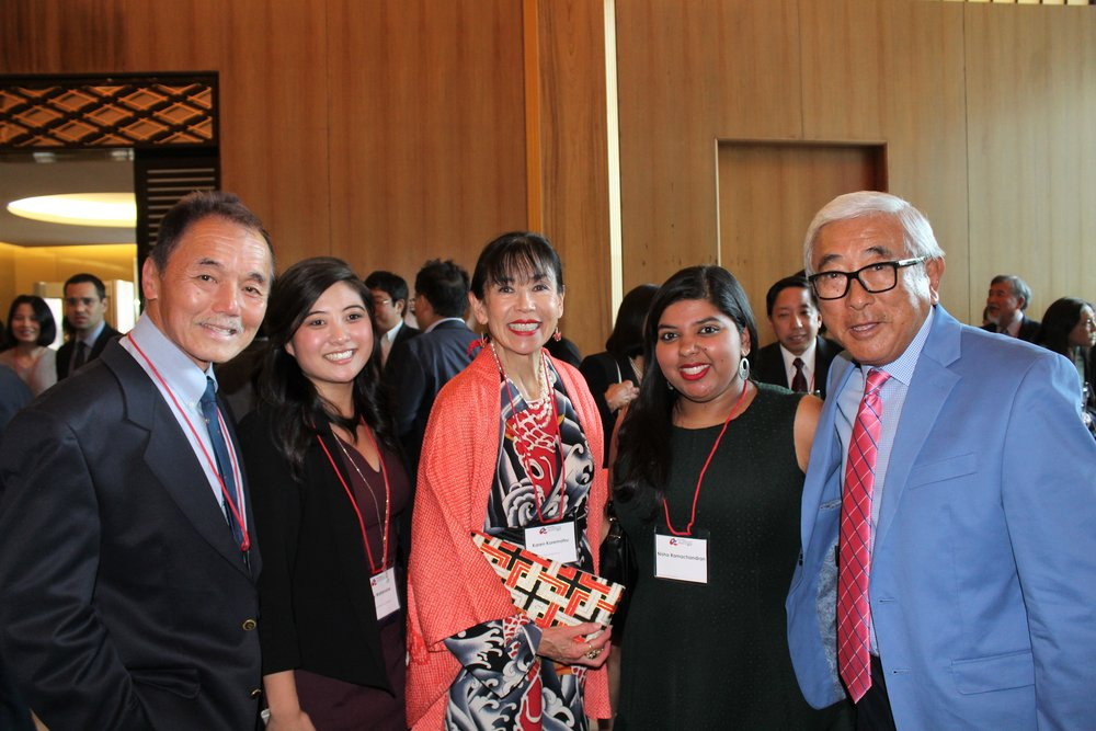 From left to right: Keith Kawamoto; Amy Watanabe; Karen Korematsu, civil rights leader and President of the Korematsu Institute; Nisha Ramachandra, Policy Director for the National Council for Asian Pacific Americans; and Floyd Mori, past JACL National President and JACL Executive Director Emeritus.