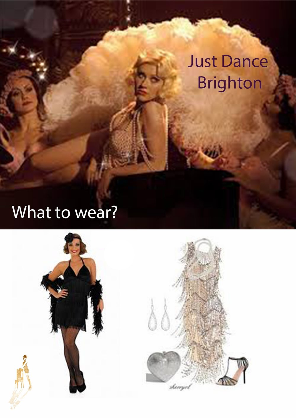 Bring your party dress! Something sparkly or black will be perfect! Matched with black tights and small heels! - There will be accessories to borrow!