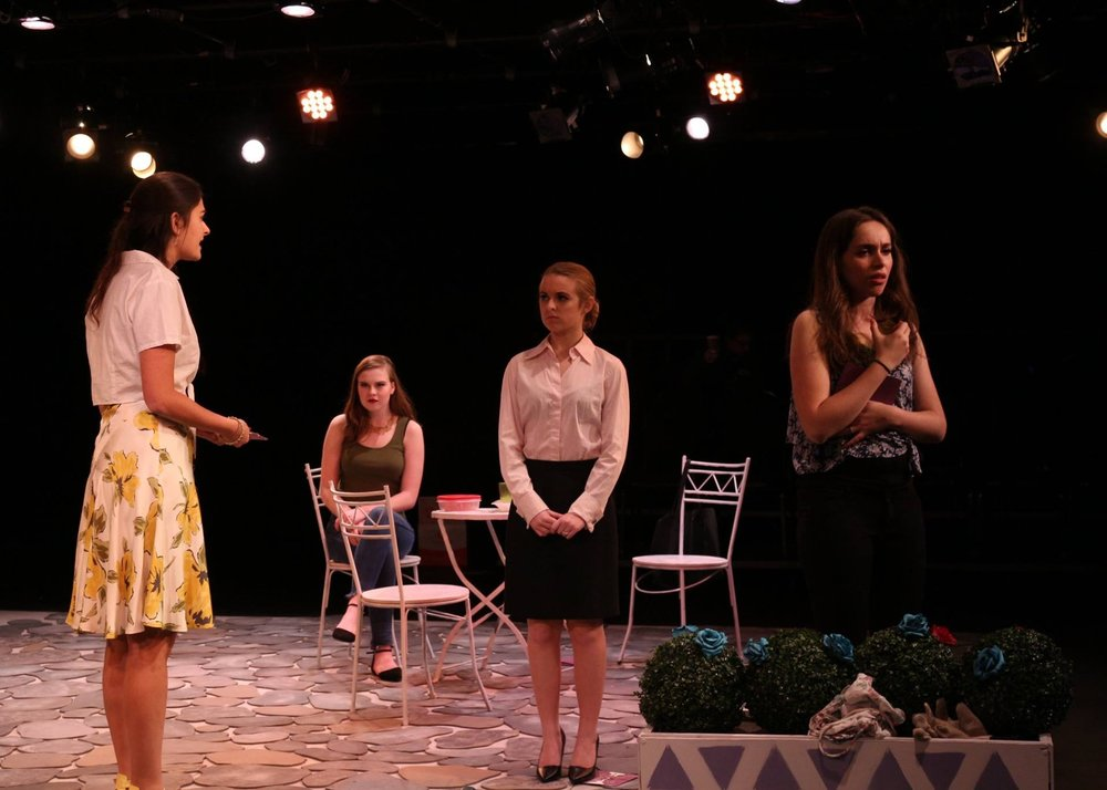 ROOTS - (writer)ROOTS, the winner of the Donn B. Murphy Playwriting Contest in spring 2017, and the play was produced at Georgetown University in the fall of 2017 as the center piece of the Donn B. Murphy One-Act Festival. It is a social satire about four women who regularly meet in a garden, envying each other and harboring secrets.