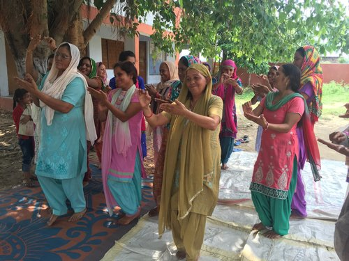 MANGUCHAK VILLAGE - In Manguchak, a village on the India-Pakistan border, I facilitated a workshop with 27 women in which we created theatre to interpret the violences that surround them. We created plays about the cross-border shelling that regularly destroys their crops, property, and cattle, as well as about the domestic assault that pervades every household. Through the workshop, the participants realized that they are not alone in enduring the violence and formed a community of strong, courageous women who defied patriarchal expectations when they achieved their political goals.