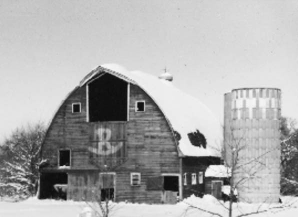 "Pictured above is the barn where Misti got her start. This barn was located on her family's (Roger and Lylis Nelson) farm outside of Canby, MN. Her grandfather, grandmother, father, aunt and uncle raised hogs and beef cattle. After they sold out of livestock and pivoted to solely farming crops, it sat empty for many years. Until Misti's passion for horses brought it back to life, it was patched with passion and provided shelter for her horses and hay until it was dismantled in 2012. This barn houses more childhood memories for Misti than any where else. To this day when asked if she was ""born in a barn"" she replies, ""no, but I got there as soon as I could"" and there is nowhere else she'd rather be."