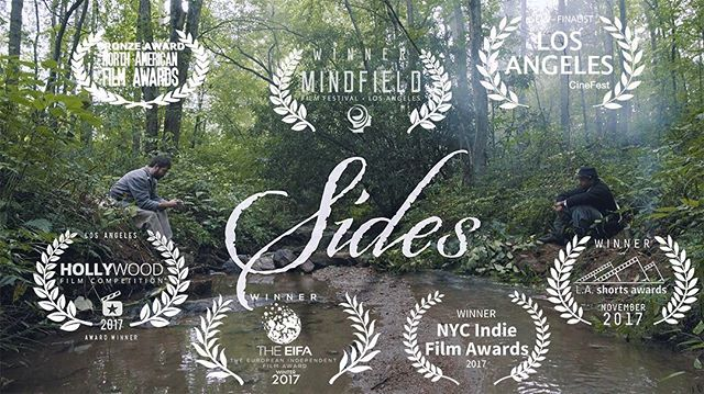 Happy New Year!! Here is our new poster announcing the awards we have received for SIDES!! We have had a blessed year and are looking forward to 2018 #trustfallproductions #shortfilmawards #shortfilm