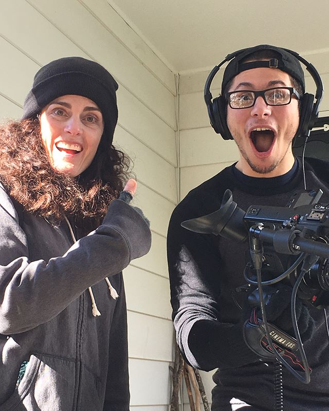 """We had such a amazing time filming """"Revisit""""! What an honor working with the brilliant @jentrudrung. She wrote a wonderfully scary piece! #trustfallproductions #horror #film"""