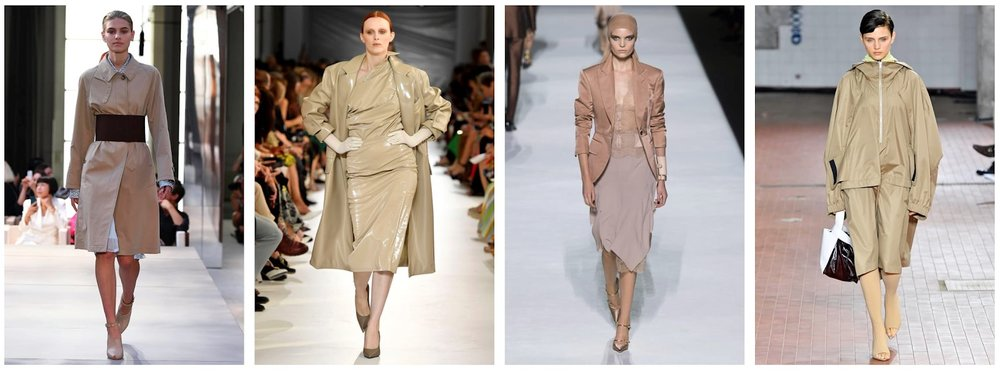 L-R: Burberry | Max Mara | Tom Ford | Jil Sander    Images: tag-walk.com