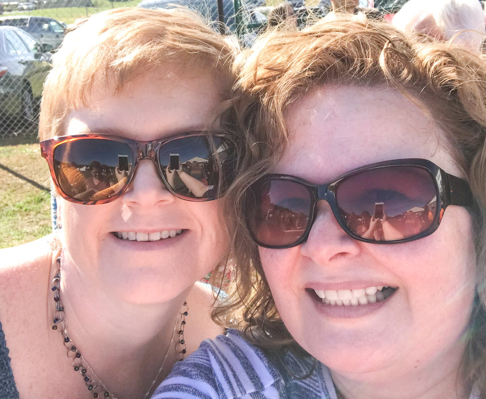 Corrine Walcher (left) Me (right)