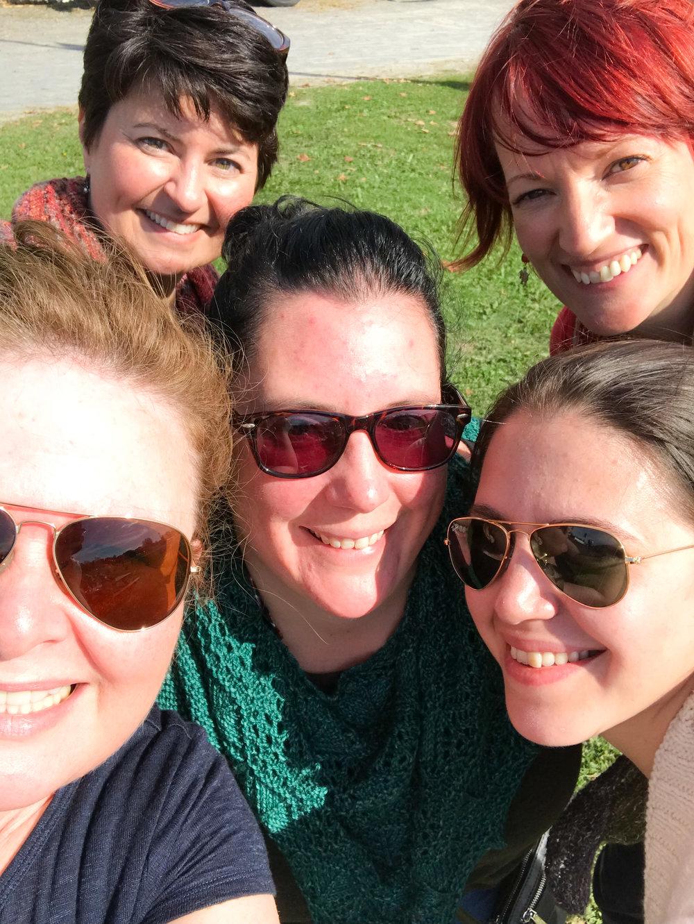 Me (l) Jen Lucas (centre) Sloane Rosenthal (centre right) Lisa Barnes (upper right) Pam Maher (upper left)