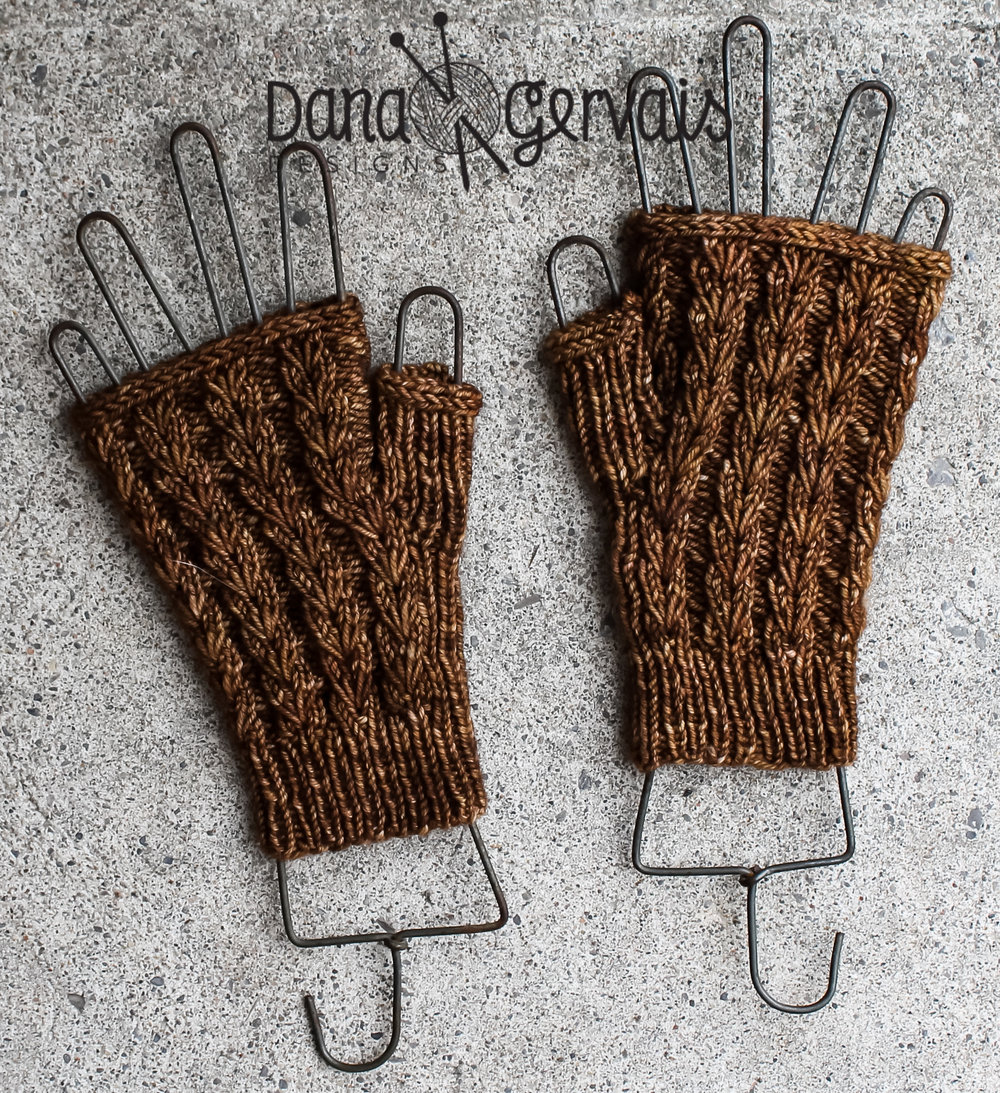 Caffeine Fingerless Mitts
