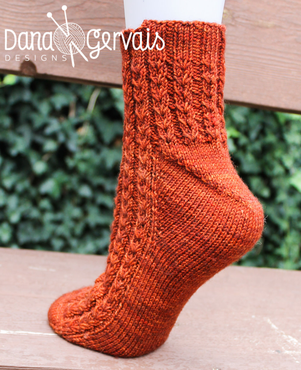 Caffeine is an example of a sock that uses Strong/Fleegle heel construction