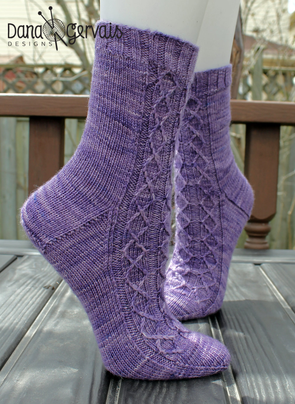 Heliotrope is an example of a sock with a wedge toe