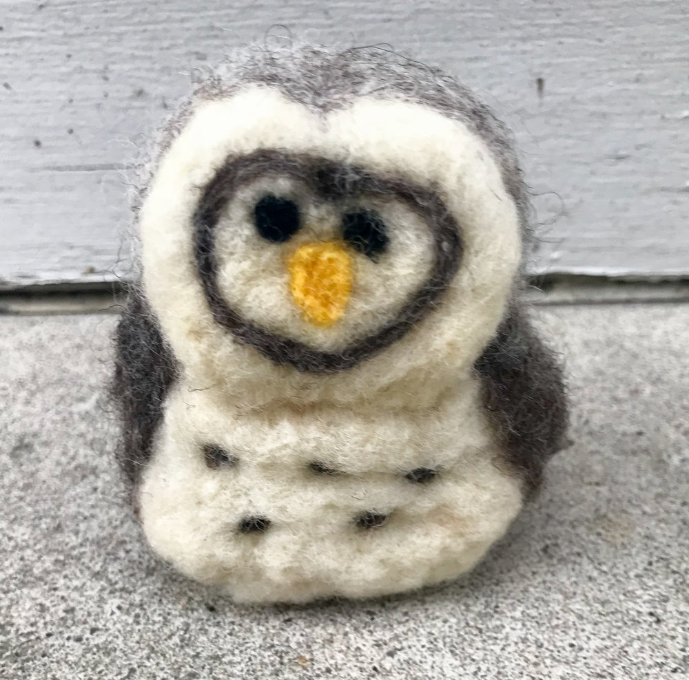 The owl that I made after dinner last night while catching up on Coronation Street