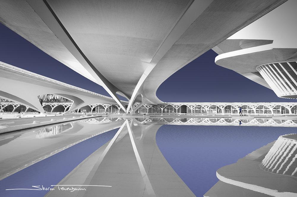 City of Arts and Science Valencia - Underneath Bridge