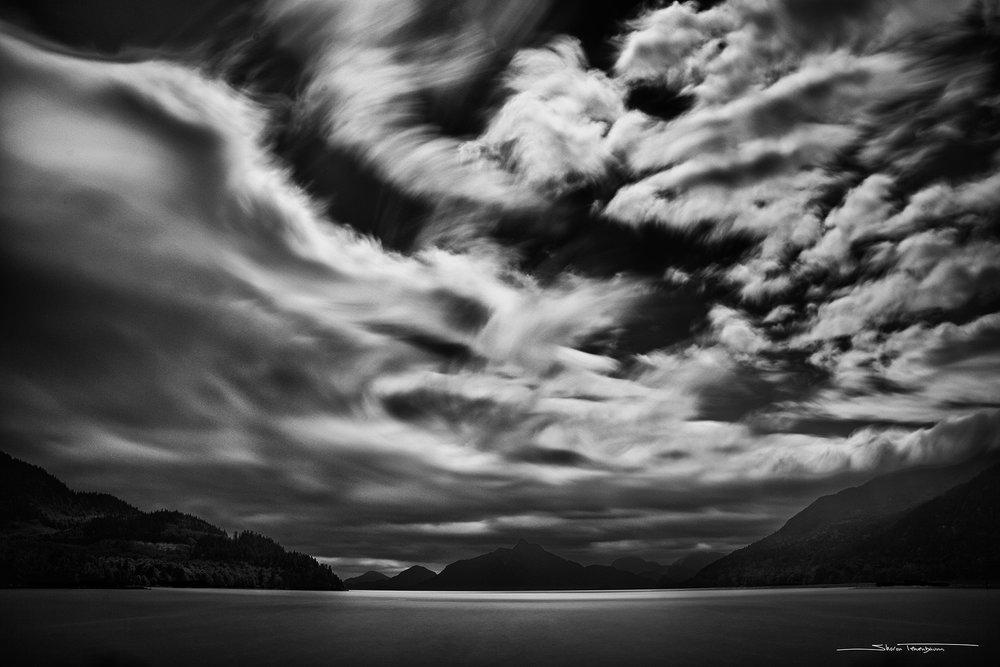 Howe Sound Sky B&W