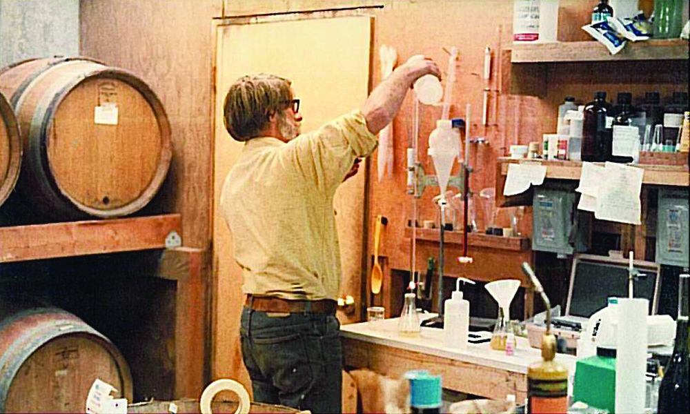 Vintage Photo of David Adelsheim Winemaking