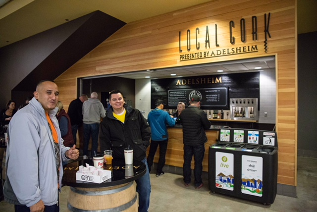Local Cork & Adelsheim Vineyard at Portland Trail Blazers