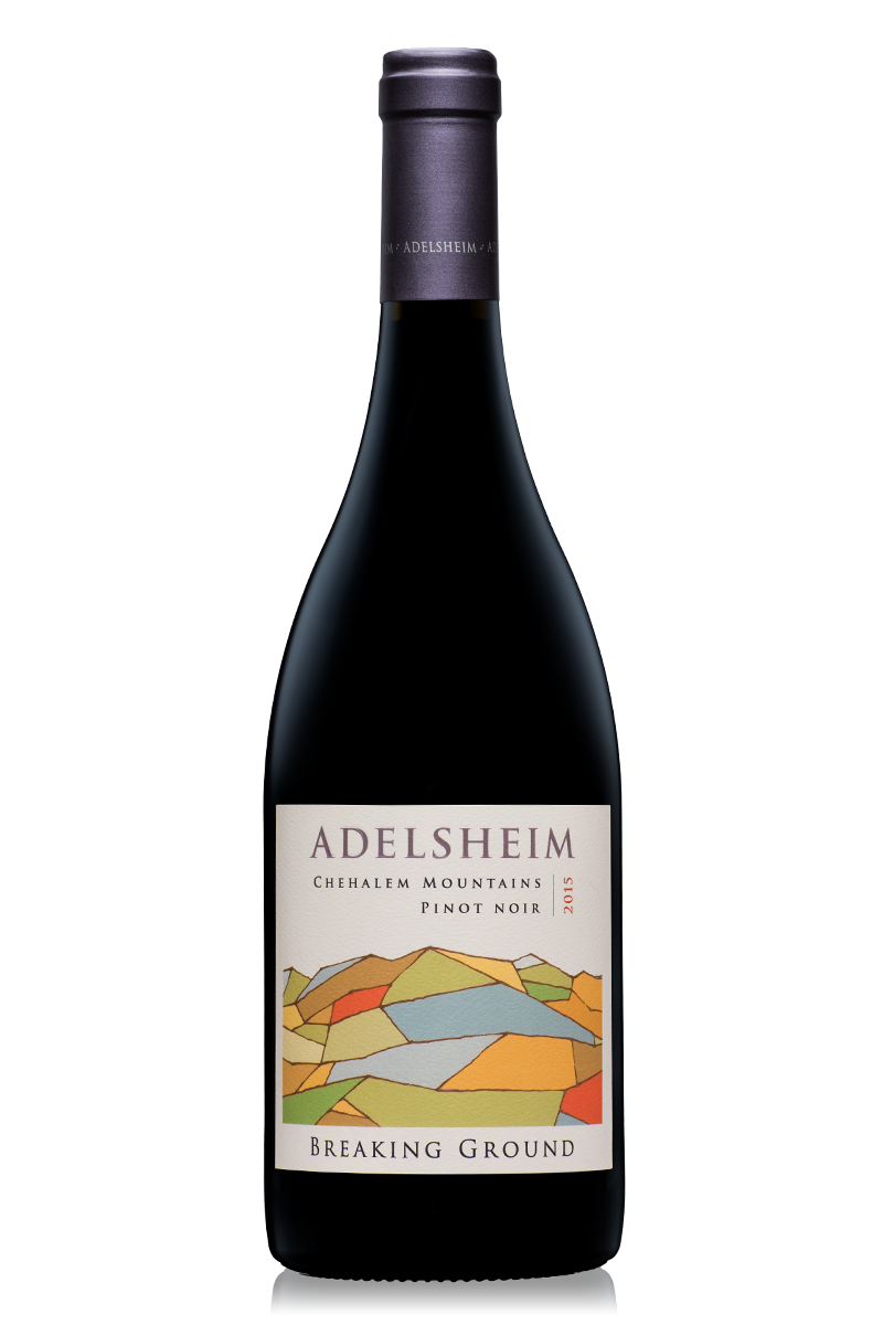 2015 breaking ground Pinot noir - bottle shotlabel front / label backdescription sheetshelf talkersdownload all
