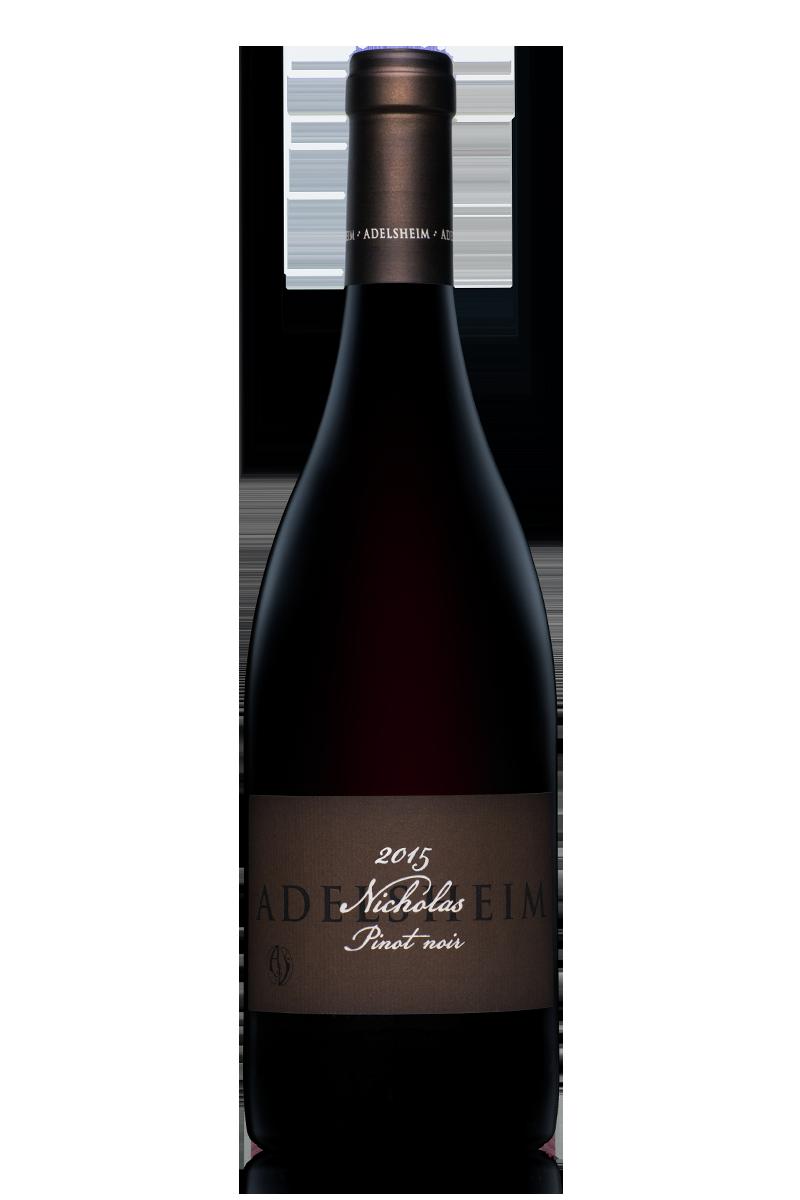 2015 Nicholas pinot noir - bottle shotlabel front / label backDescription sheetdownload all
