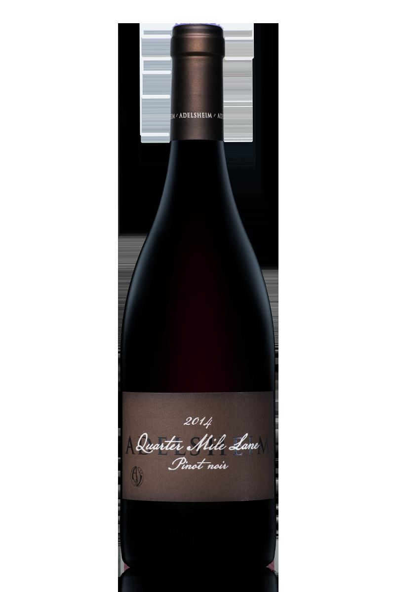 2014 Quarter mile lane pinot noir - bottle shotlabel front / label backdescription sheetdownload all
