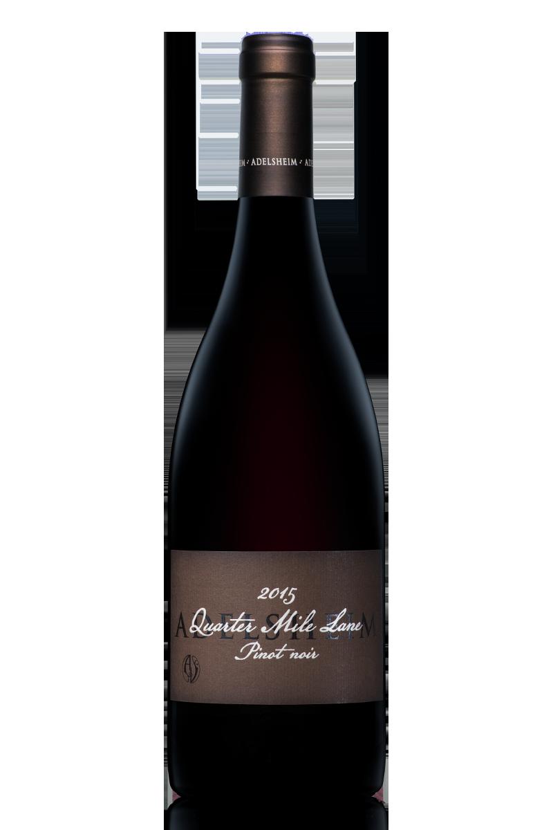 2015 Quarter mile lane pinot noir - bottle shotlabel front / label backdescription sheetdownload all