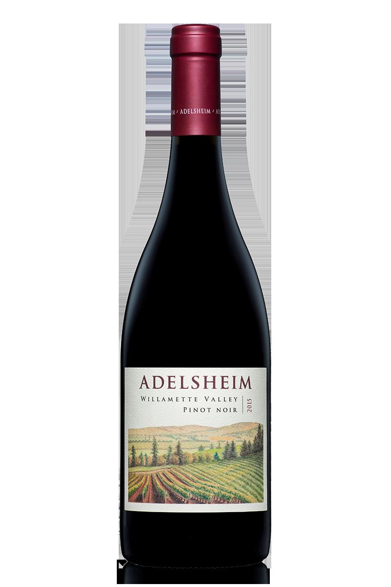 2015 Willamette Valley Pinot Noir - bottle shotlabel front / label backdescription sheetshelf talkersdownload all