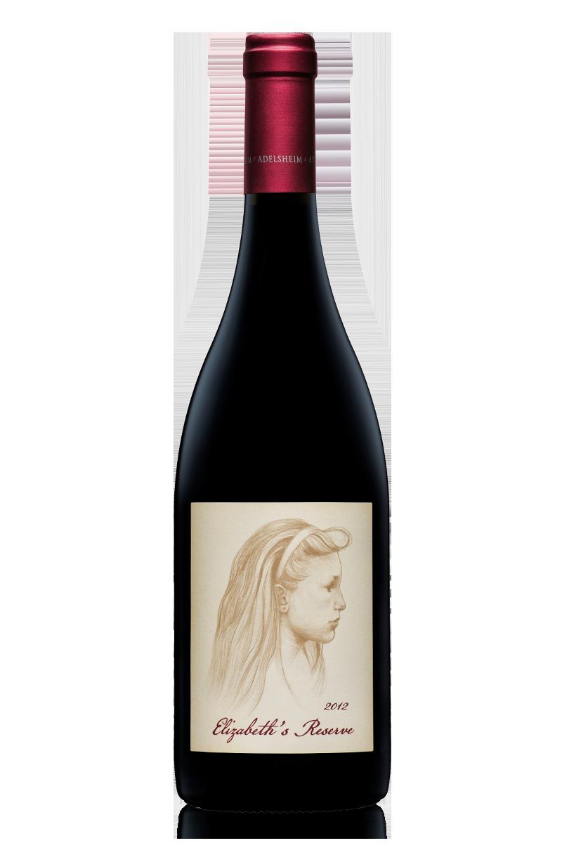 2012 elizabeth'S RESERVE PINOT NOIR - bottle shotlabel front / label backdescription sheetshelf talkersdownload all