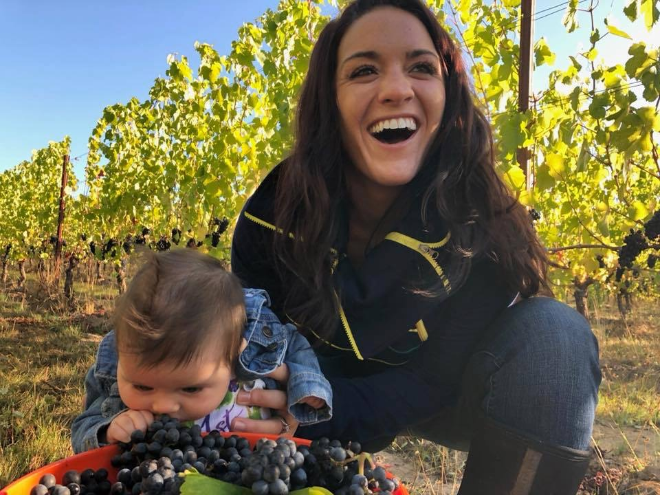 This is little miss Savannah Rose at her first Harvest outing. She's becoming a pro, just like her mom!
