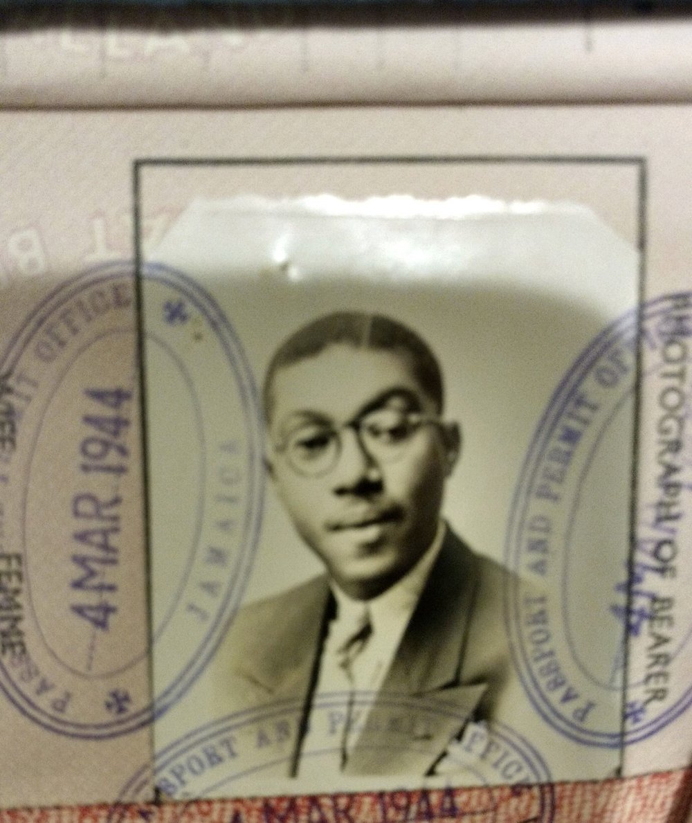My grandfather's passport to move to America to be with my grandmother and mother.