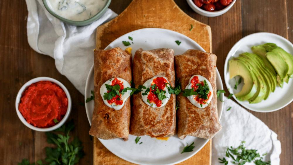 Shakshuka Breakfast Burrito