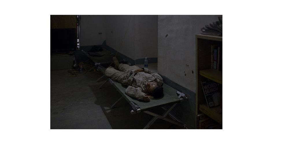 Sleeping Marine, Helmand Province
