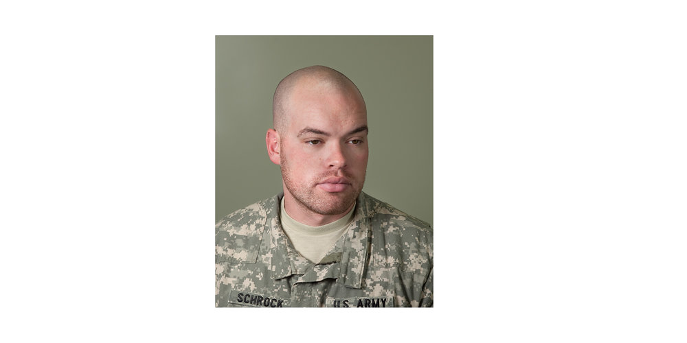 "SPC Theodore Schrock, Mortuary Affairs Specialist  ""The most rewarding part of the job is knowing that the families are able to have their soldiers returned home to them."""