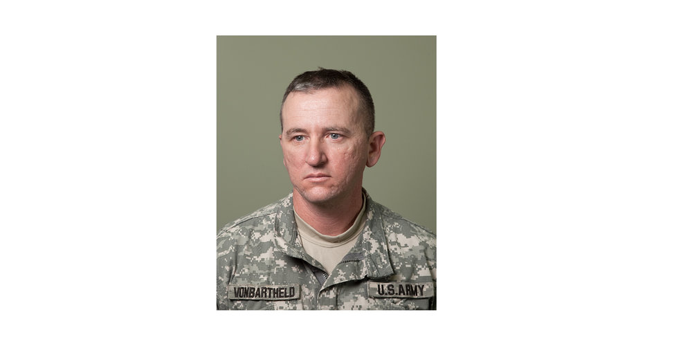 """Maj Adam Vonbartheld,Mortuary Affairs Officer  """"The most challenging part is the emotional side of it, knowing that these soldiers have paid the ultimate sacrifice and they have families back home, loved ones, parents, grandparents and children that they will never see again."""""""
