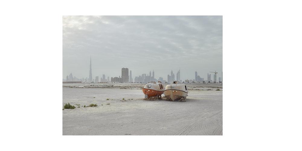 Lifeboats, Al Jaddaf, Dubai, from the series 'The Edge'