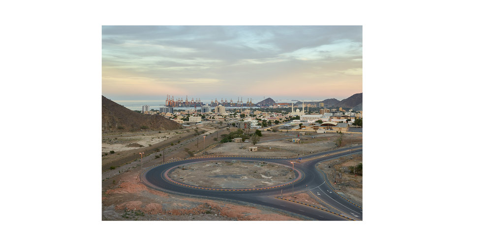 Roundabout, Khor Fakkan, Sharjah, from the series 'The Edge'