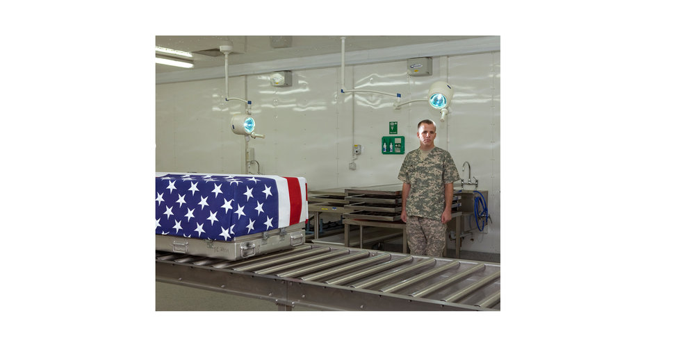 """SSG Jeffrey Holden,Mortuary Affairs Specialist, from the series 'The Thing About Remembering"""""""