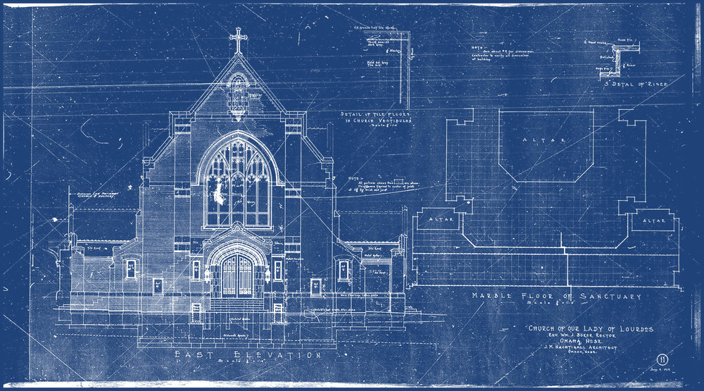 The history of blueprints cobalt blueprint fastest printing in original cyanotype blueprint church of our lady of lourdes 1919 malvernweather Choice Image