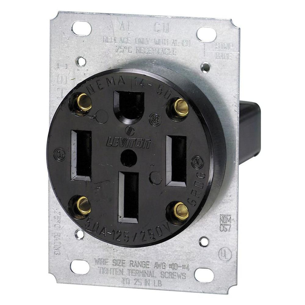 NEMA 14-50 outlet, $10 at Home Depot or Amazon