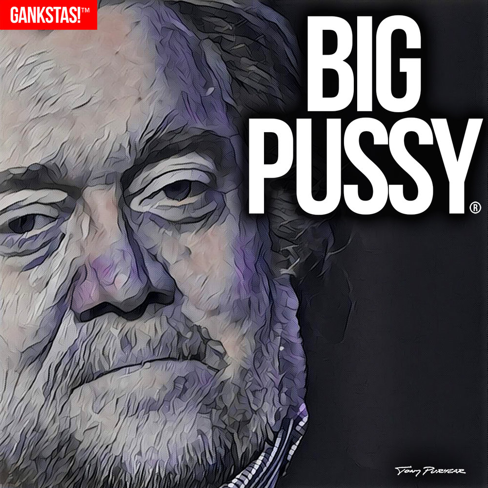 """ BIG PUSSY "" - 2017, digital print on acid-free paper, 14.5""x14.5"" Portrait of fired presidential advisor and white supremacist  Steve Bannon"
