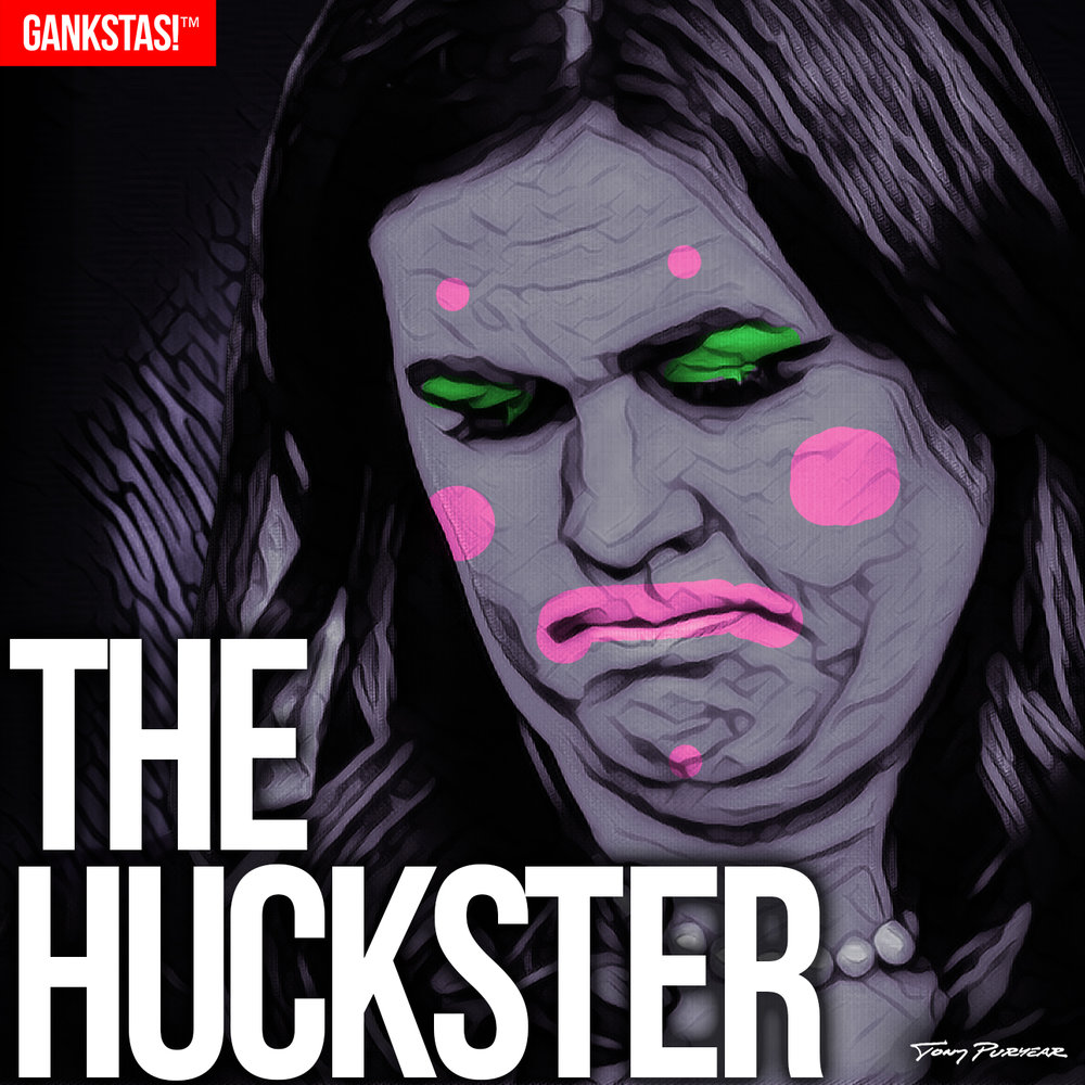""" THE HUCKSTER "" - 2017, digital print on acid-free paper, 14.5""x14.5"" Portrait of Press Secretary  Sarah Huckabee Sanders"