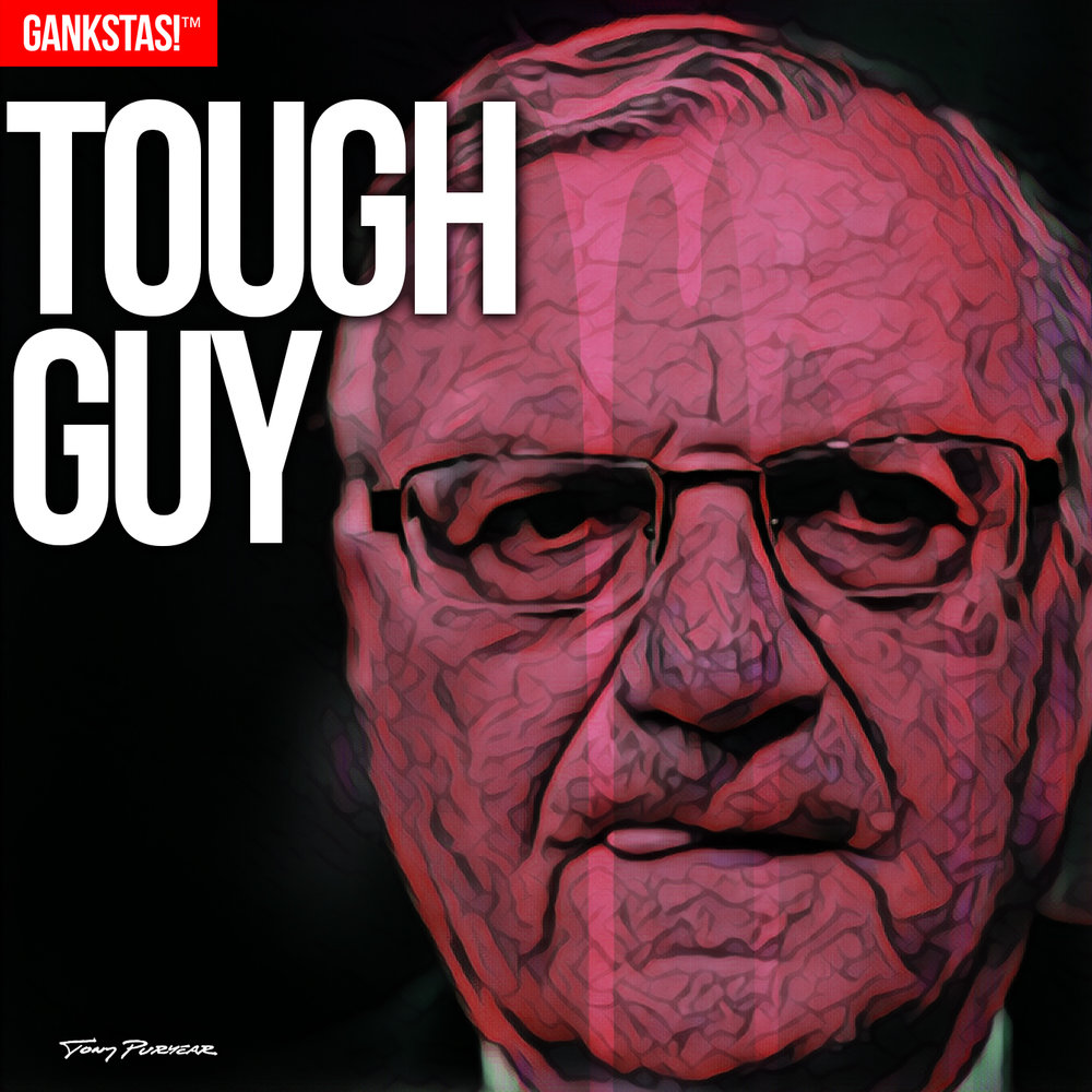 """ TOUGH GUY "" - 2017, digital print on acid-free paper, 14.5""x14.5"" Portrait of disgraced Marcicopa County, AZ, Sheriff and convicted felon  Joe Arpaio , recipient of a presidential pardon from Donald Trump."
