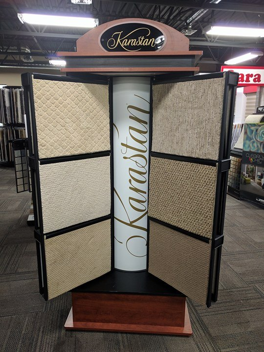 CARPET We carry over 1,000,000 square feet of Carpet. This includes major brand like Shaw, Mohawk, Beaulieu and Kane which are already in stock and ready for delivery.