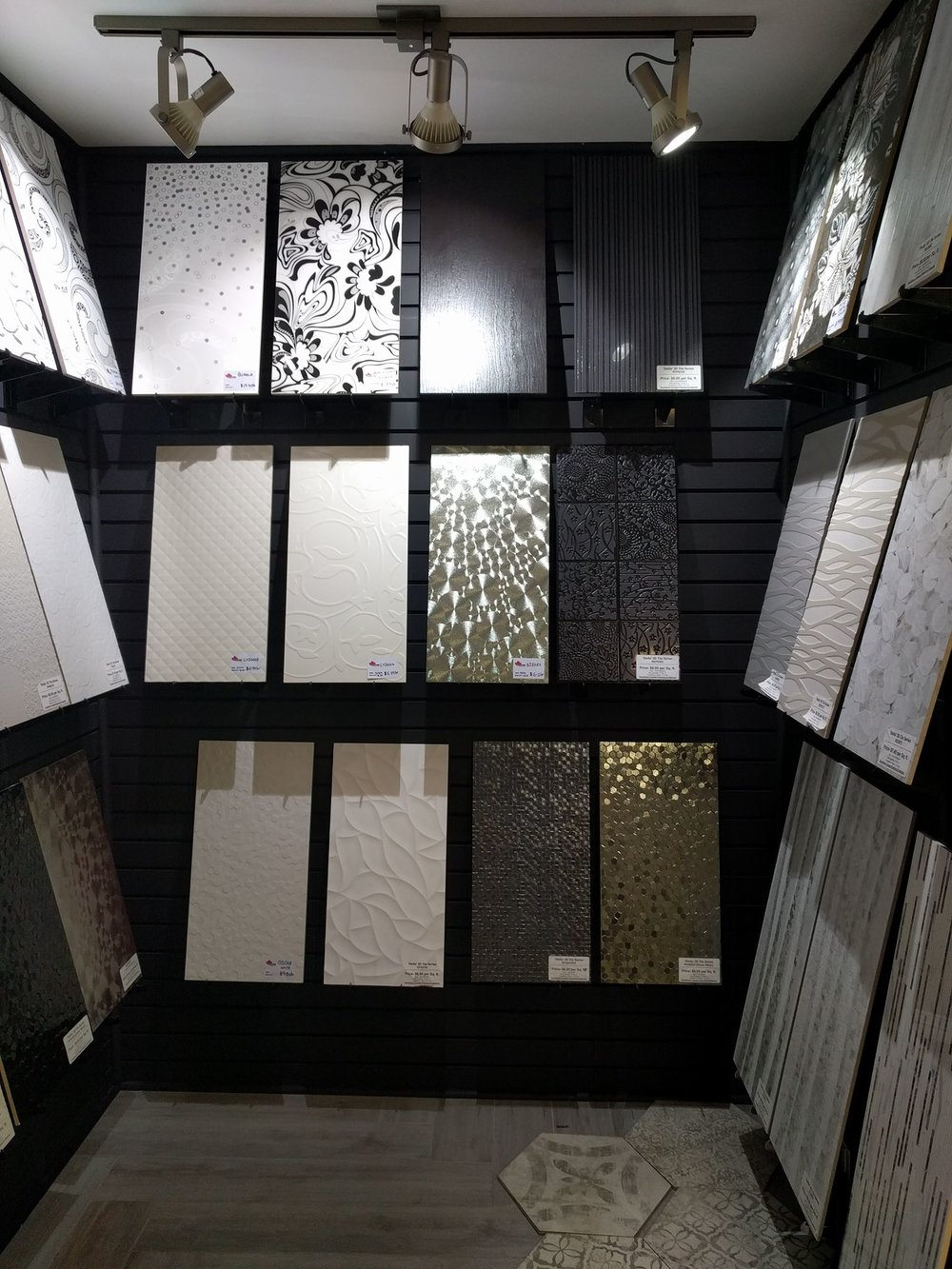 WALL TILES    One of the latest trends of flooring in Alberta is wall tiles for feature walls, bathrooms, kitchens, and fireplaces, Touchtone has over 50 different kinds of Wall Tiles in stock as well as Culture Stone.