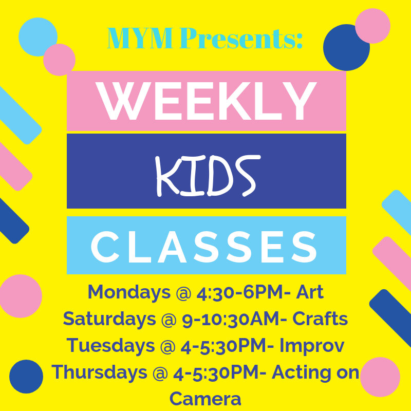 Weekly Kids Art Craft And Acting Classes Make Your Mark Studios