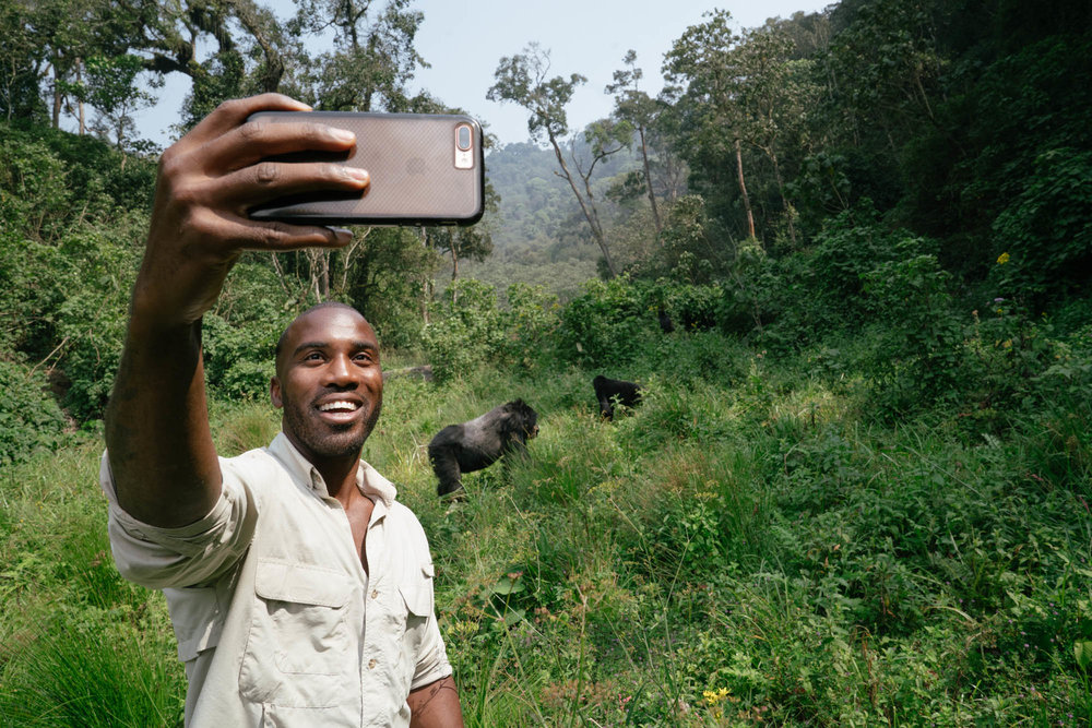 Selfies with Silverbacks is something I never dreamed I'd be doing but here we are.