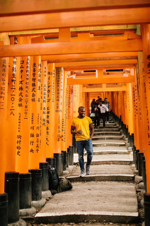 Fushimi Inari where we walked through thousands of torii gates.
